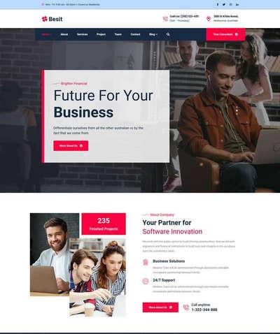 互联网公司业务介绍单页模板
