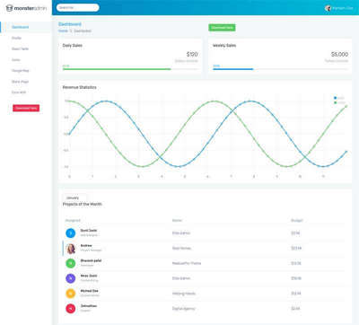 OA销售统计系统页面模板