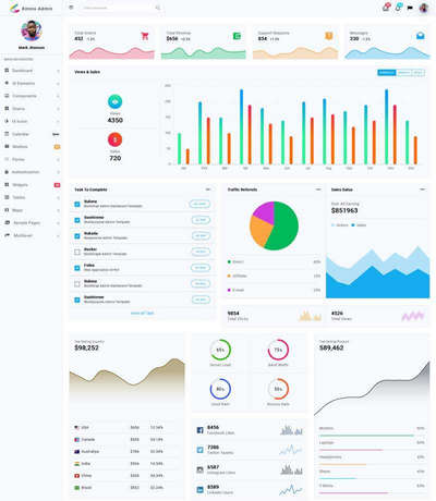 企业营业额统计管理ui框架模板