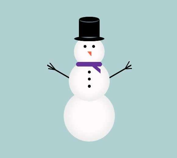 可爱的堆雪人图形特效