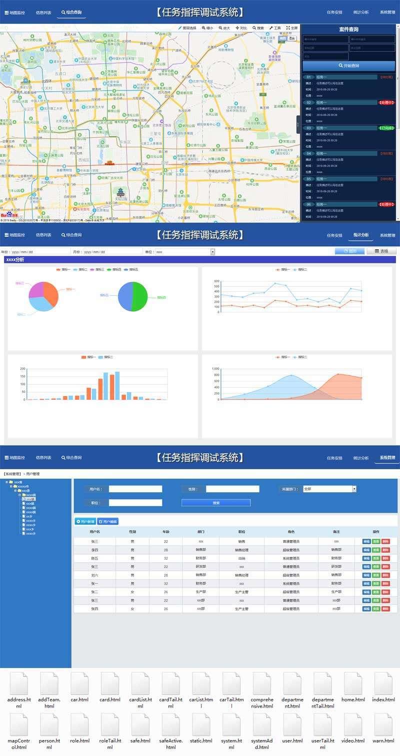 地图监控系统页面模板