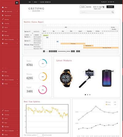 简洁通用网站后台管理html模板