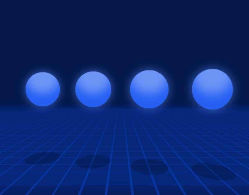 3D圆球弹性预加载动画特效