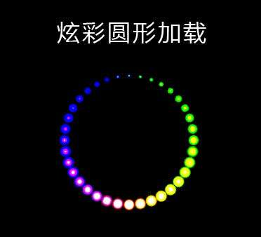 css3彩色圆形加载特效