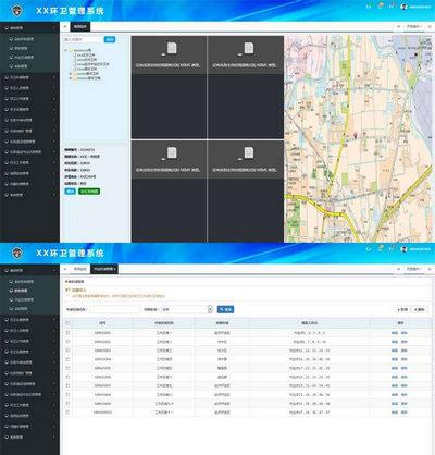 实用的城市环卫管理系统后台ui框架模板