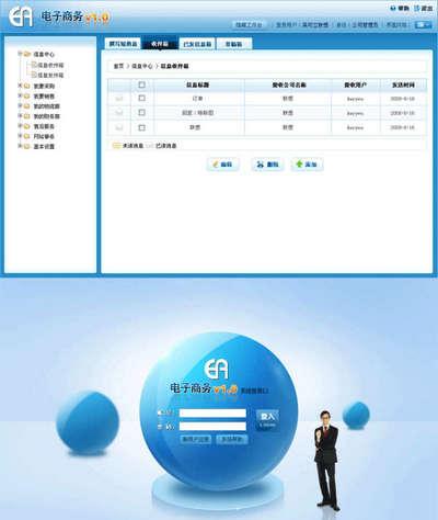 电子商务cms后台管理系统模板html源码下载