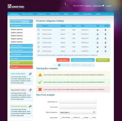 欧美企业网站后台管理模板html源码下载