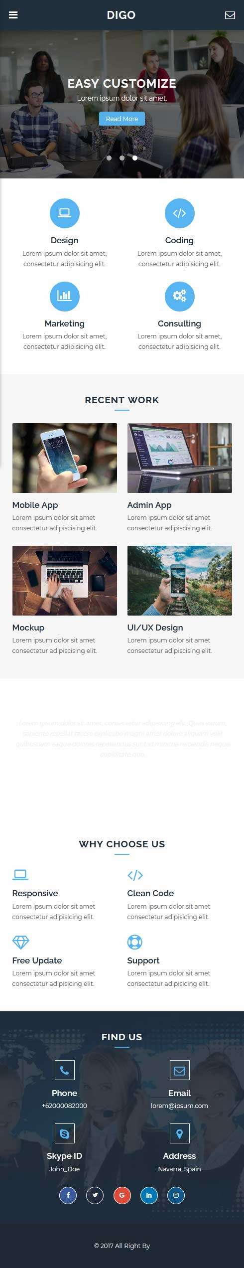 移动端企业产品展示网页模板