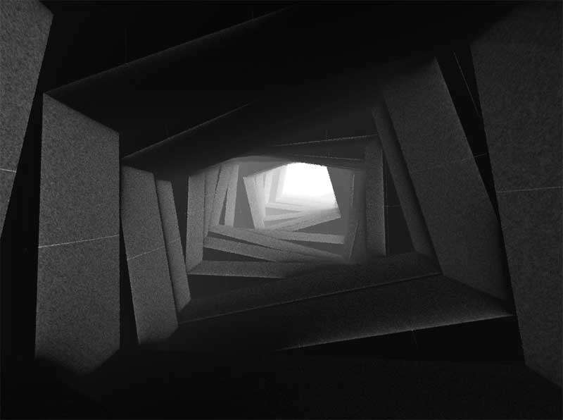 3D洞穴无限延伸动画特效