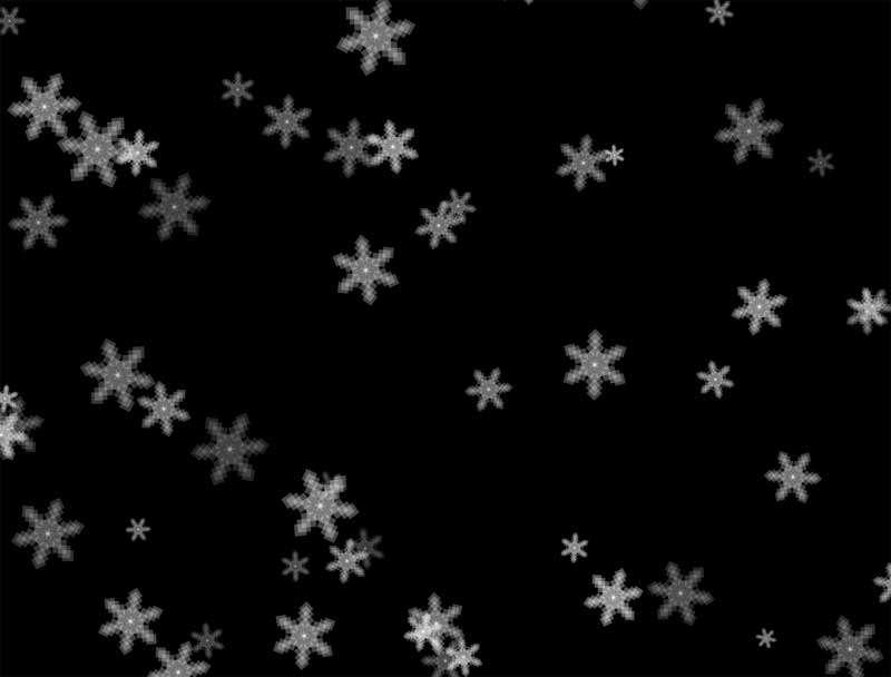全屏雪花掉落背景动画特效