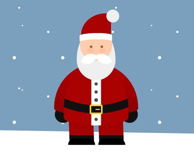 雪地上的圣诞老人图形特效