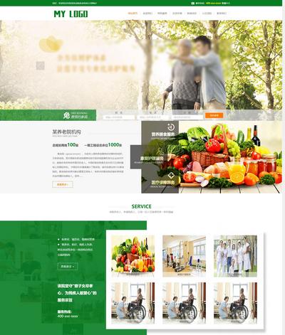 养老院疗养院机构公司网站模板(