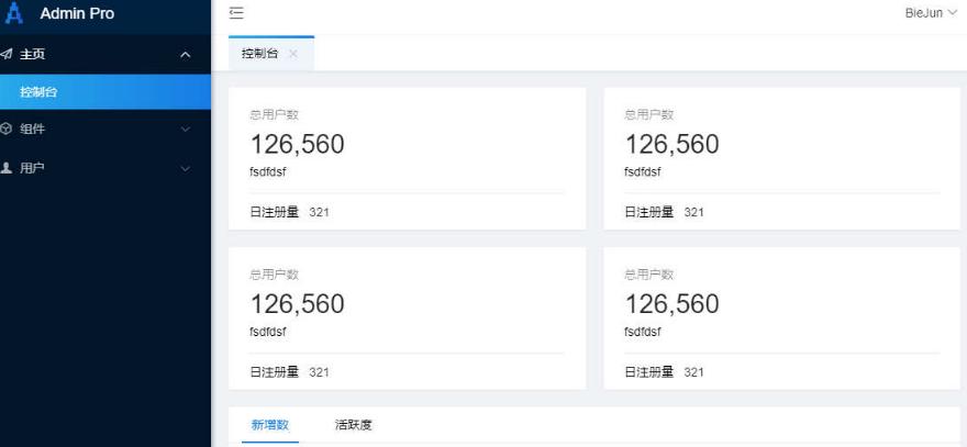 layui网站后台管理系统框架模板
