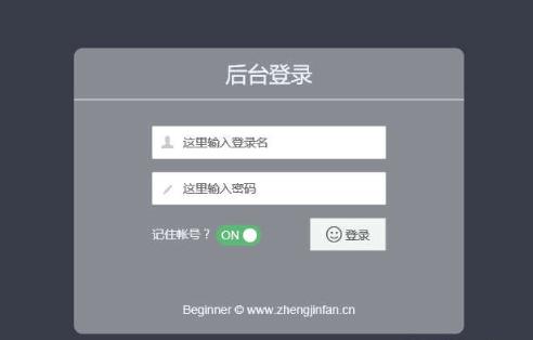 BeginnerAdmin后台管理模板