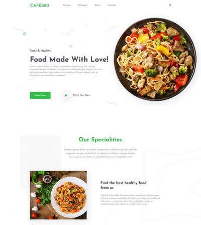 餐厅推荐菜单介绍单页HTML模板