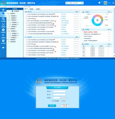 城发集团信息后台管理模板html下