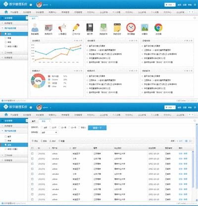 简洁的企业OA数字管理系统模板下