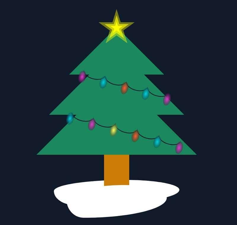 卡通圣诞树动画特效