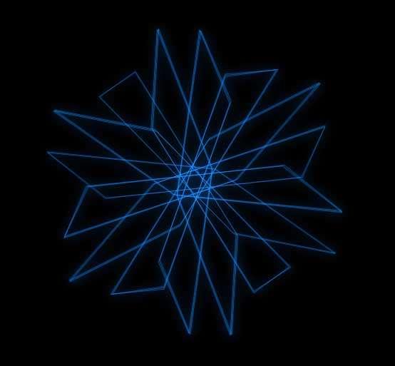 线条六角形动画特效
