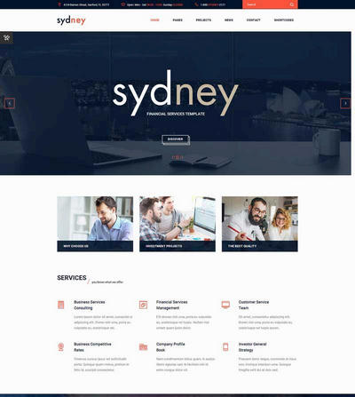HTML5大气金融商务咨询公司网站模板