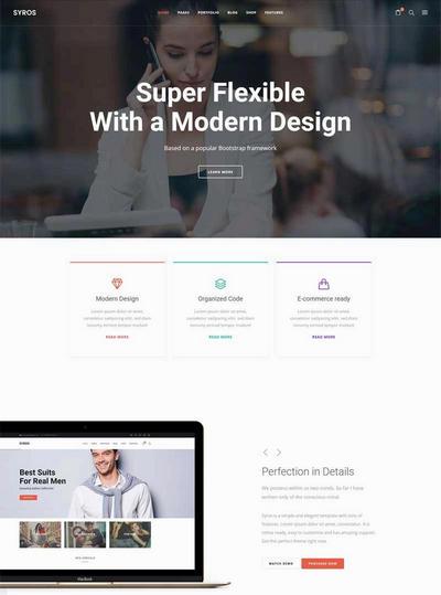 html5电子商务企业产品展示网站模板