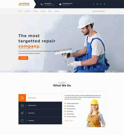 大气室内装修公司网站html全站模板