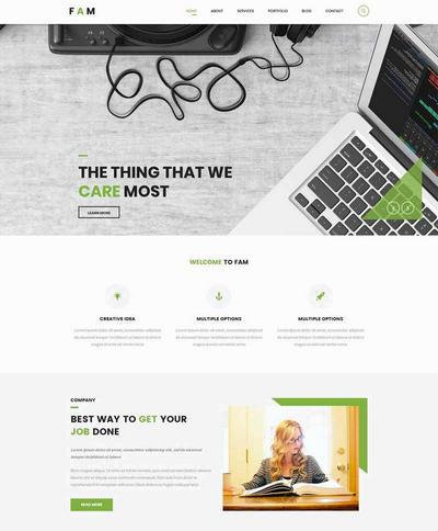 创意设计公司网站html静态模板