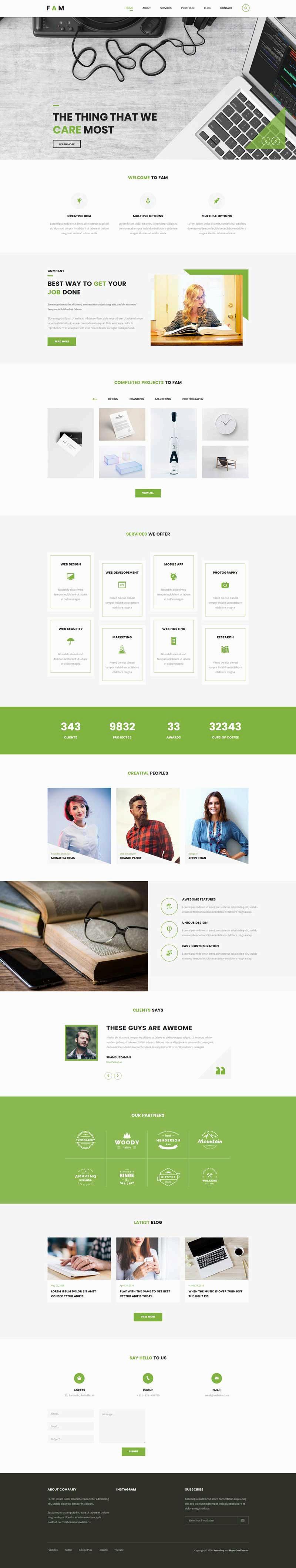 创意的设计公司网站html模板