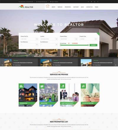 大气的房产销售平台html网站模板