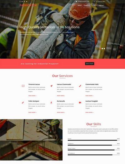 大气的工业建筑企业html网站模板