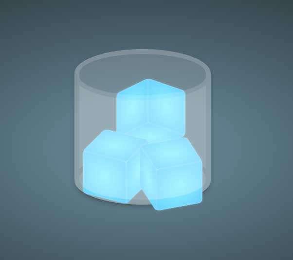 玻璃杯中的冰块图形特效