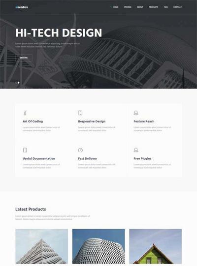 大气建筑集团公司html网页模板