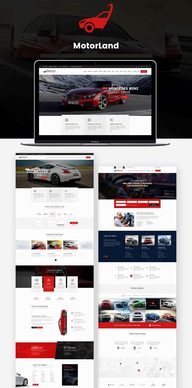 大气的汽车经销商官方网站模板