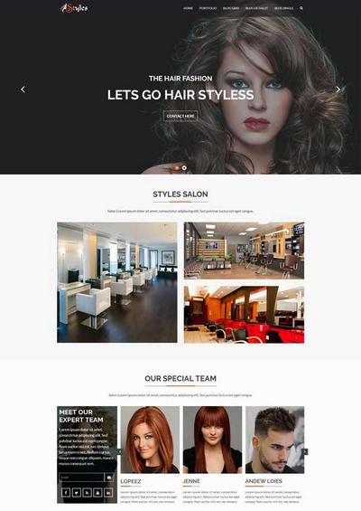 美容美发店html网站模板