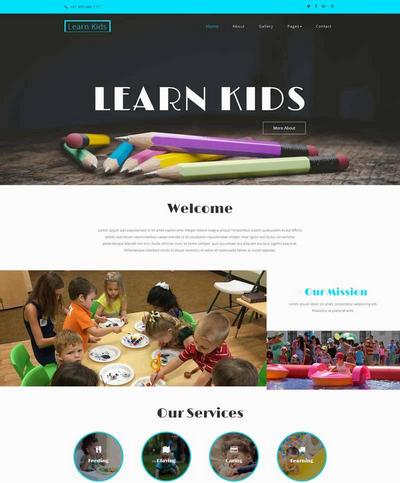 儿童绘画教育html静态网站模板