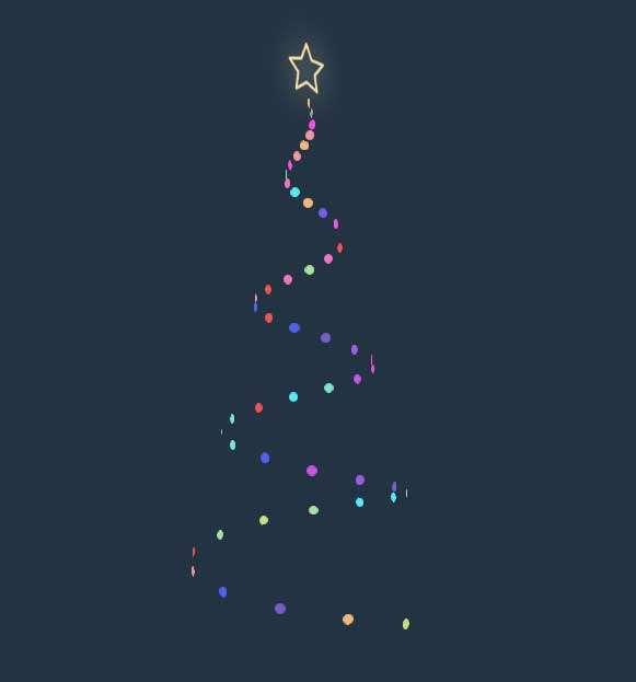 彩带圣诞树旋转动画特效