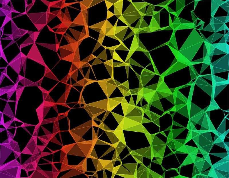 彩虹三角形图案背景特效