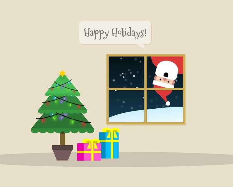 卡通圣诞节日快乐动画特效