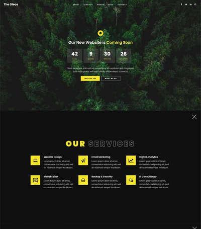 创意的网站即将发布页面H5静态模板