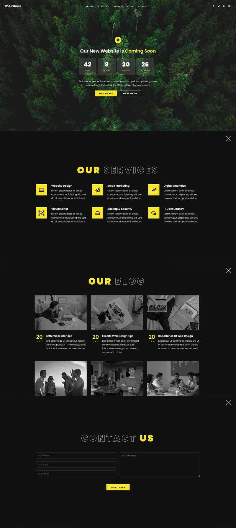 创意的网站即将发布页面H5模板