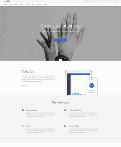 简约大气金融投资机构网站html框架模板