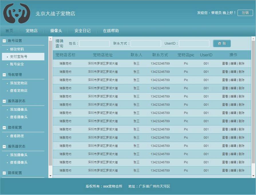 宠物店cms后台管理系统html模板
