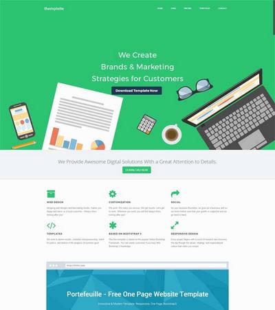 简洁通用app软件开发公司html网站模板