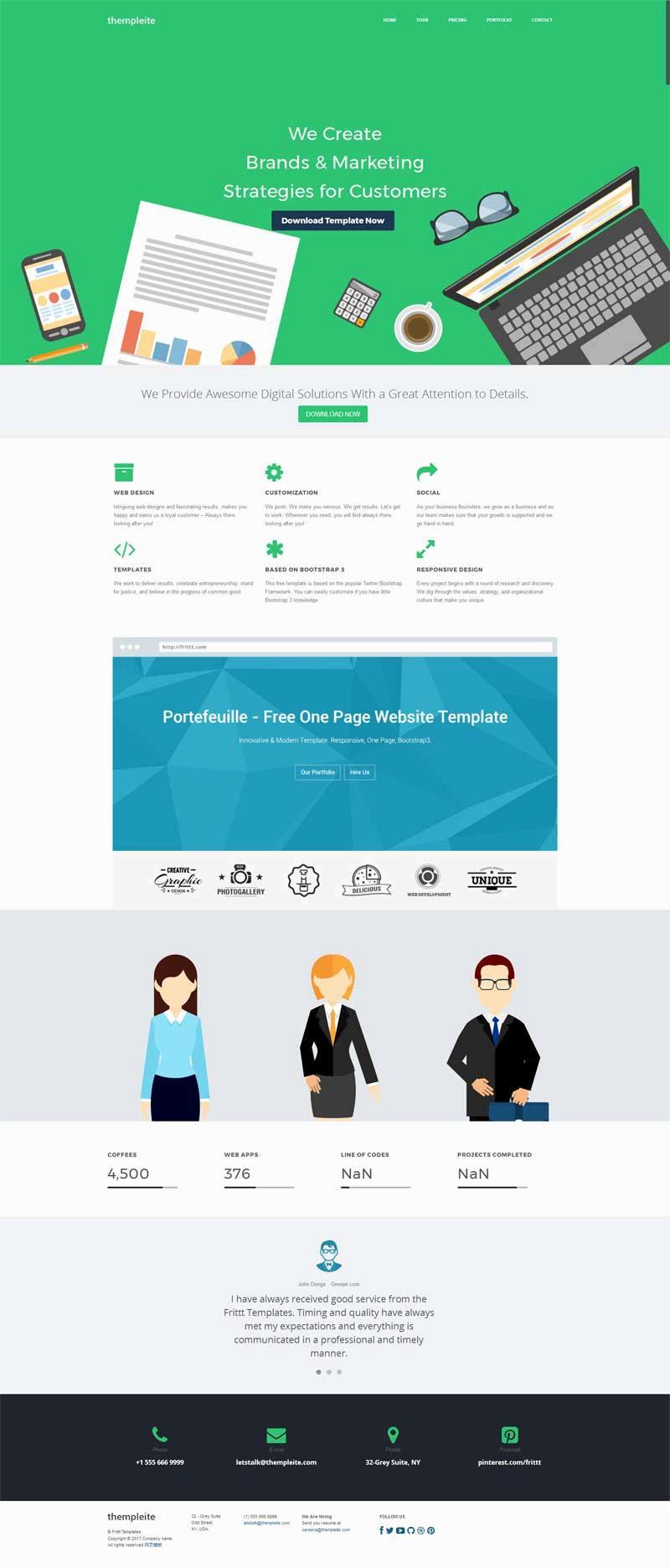 简洁通用的app软件开发公司网站模板
