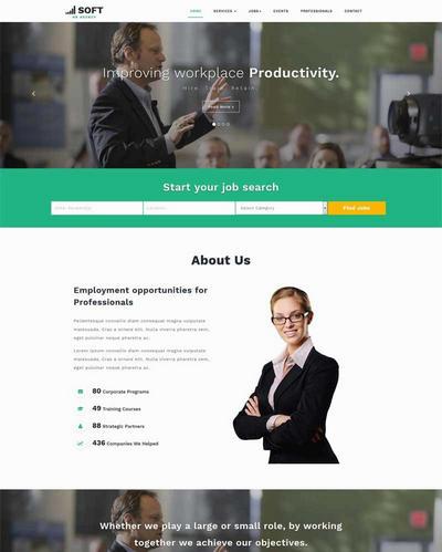 商务英语课程培训机构html网站模
