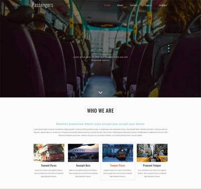 大气公共汽车交通公司网站html模板