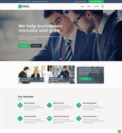 大气金融理财投资公司网站静态模板