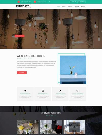 大气室内家具装饰公司网站html模板