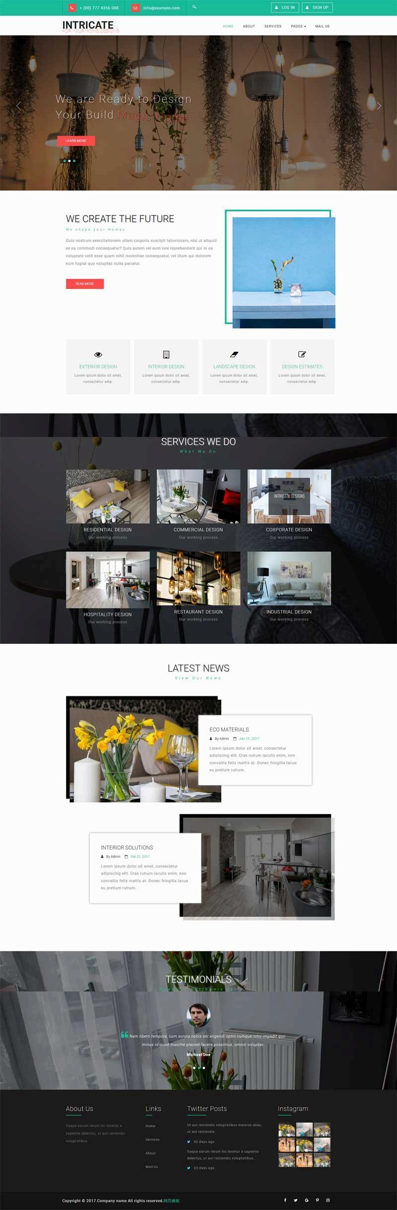 大气的室内家具装饰公司网站html模板