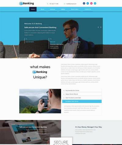 在线电子银行公司介绍html网站模